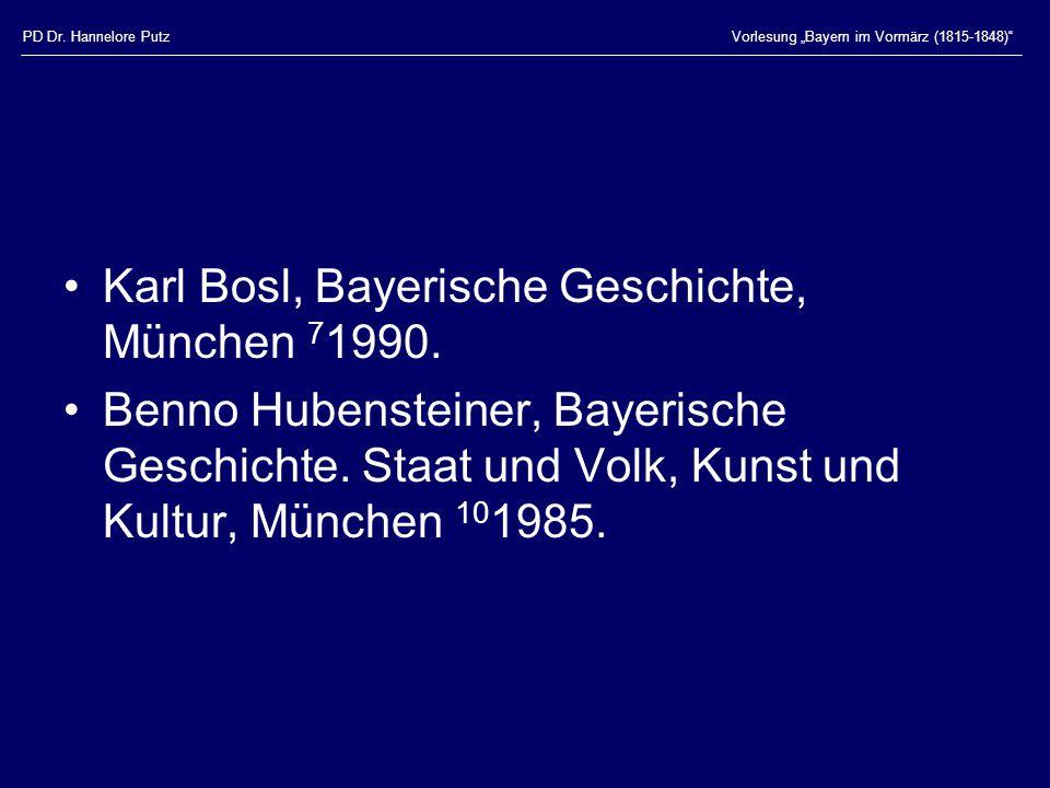 Karl Bosl, Bayerische Geschichte, München 71990.