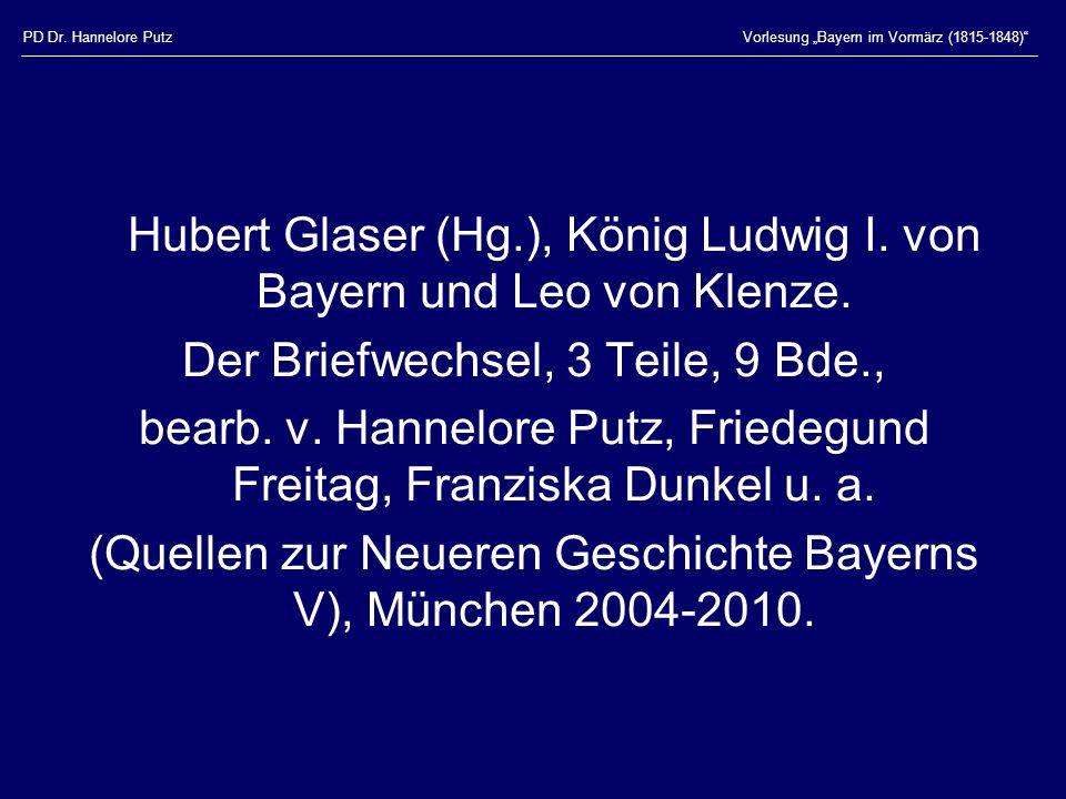 Hubert Glaser (Hg.), König Ludwig I. von Bayern und Leo von Klenze.