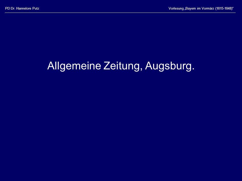 Allgemeine Zeitung, Augsburg.