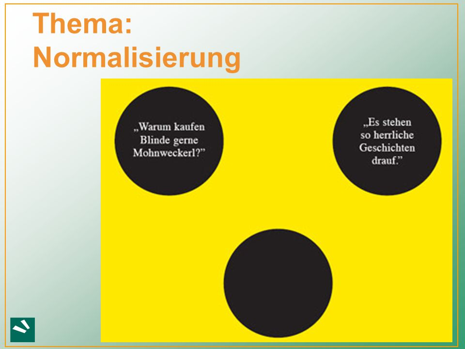 Thema: Normalisierung