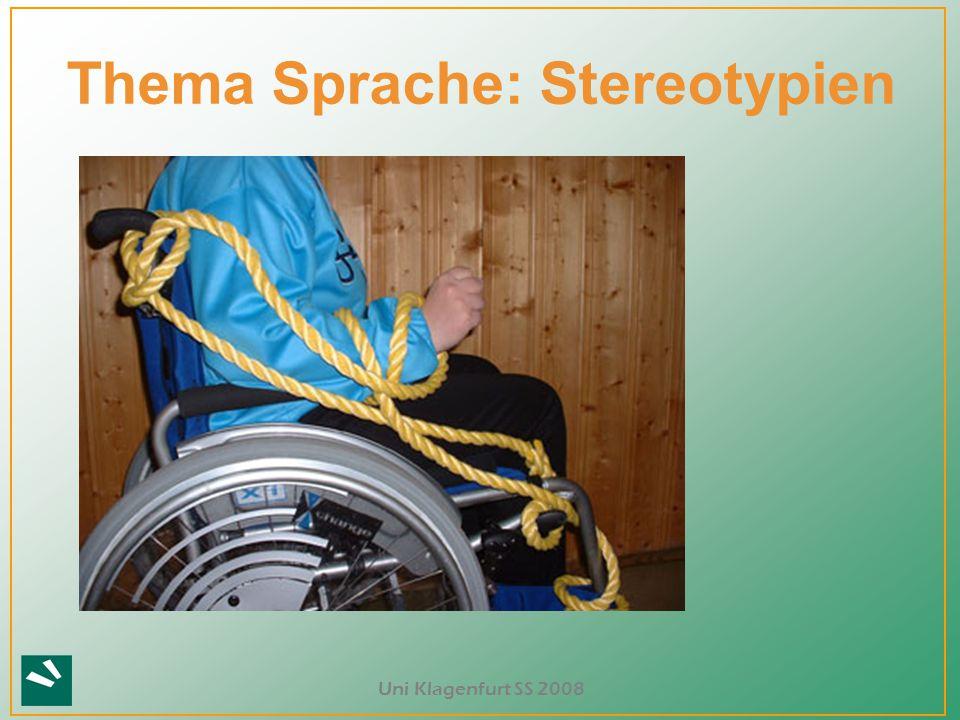 Thema Sprache: Stereotypien