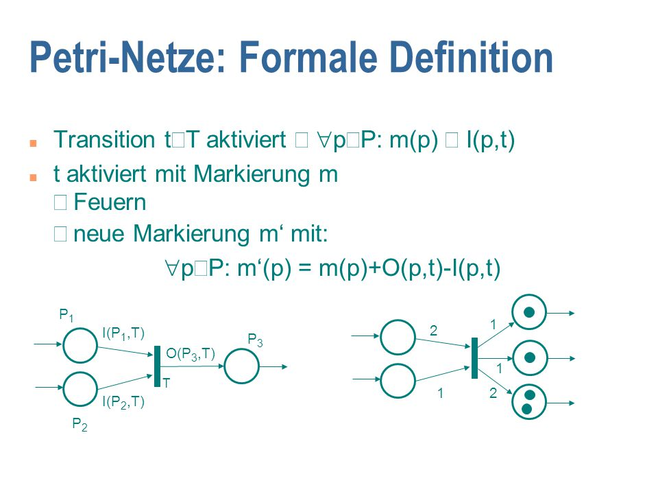 Petri-Netze: Formale Definition