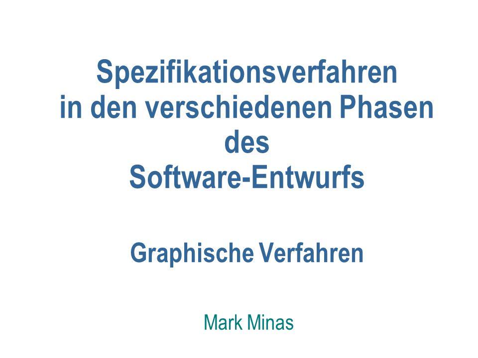 Spezifikationsverfahren in den verschiedenen Phasen des Software-Entwurfs Graphische Verfahren