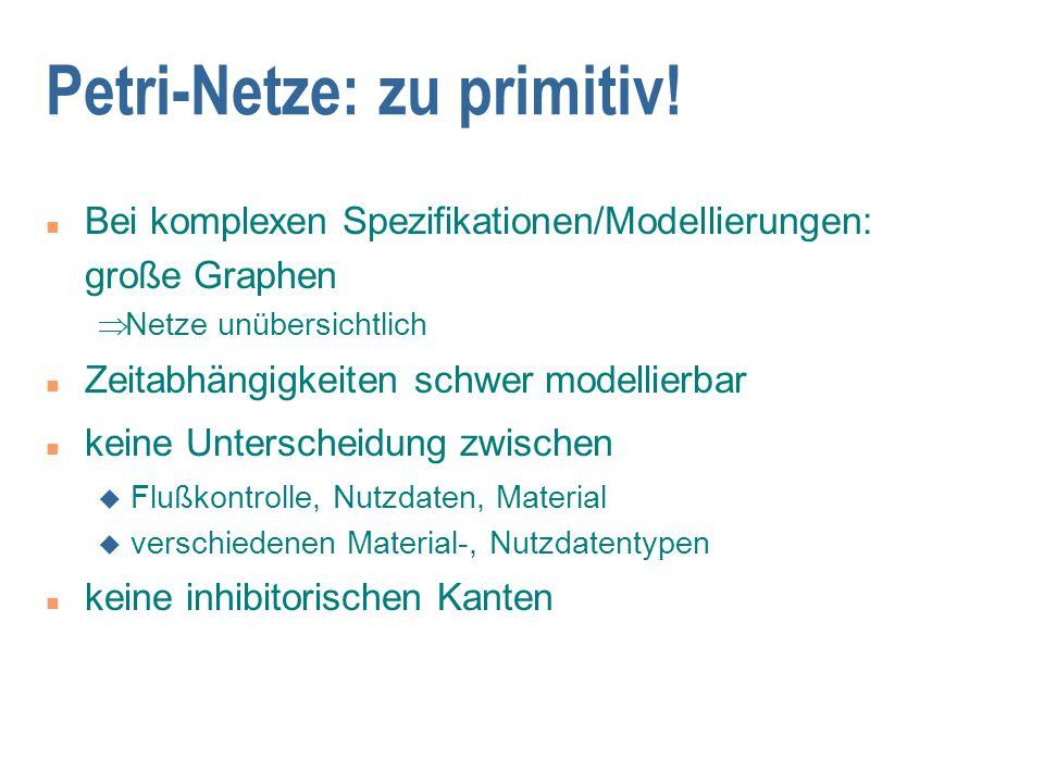 Petri-Netze: zu primitiv!