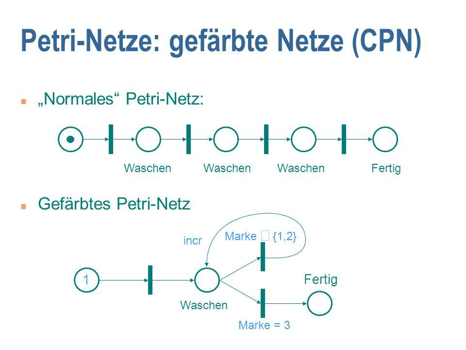 Petri-Netze: gefärbte Netze (CPN)