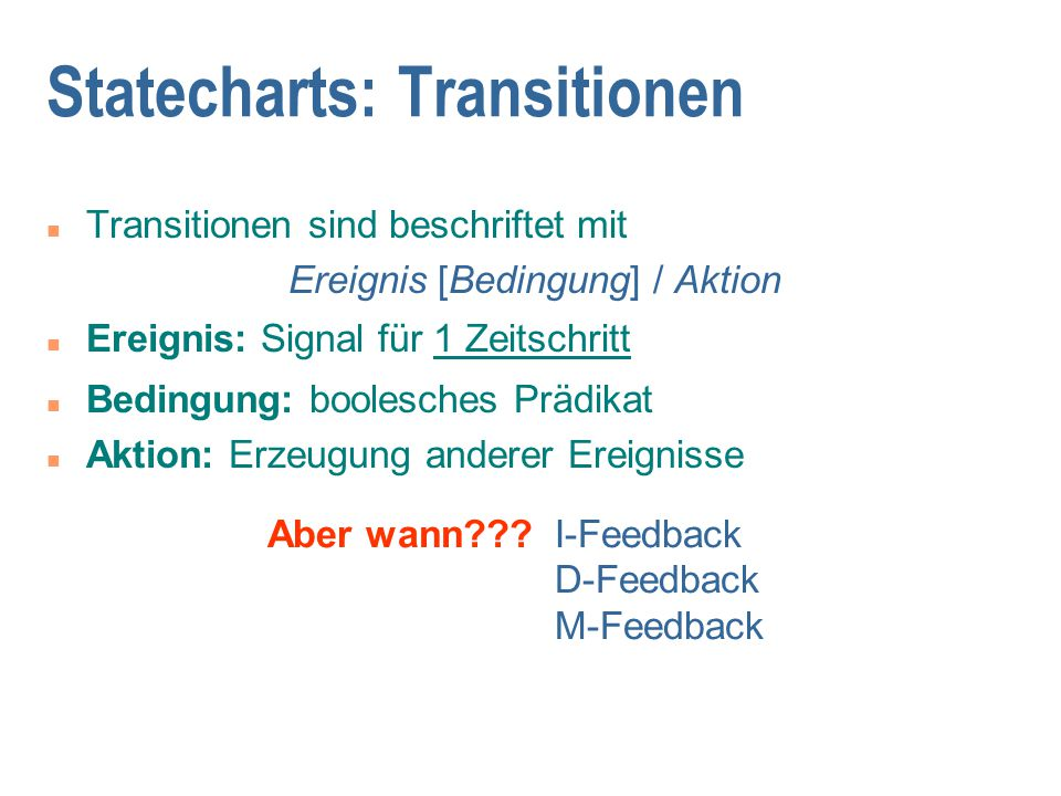 Statecharts: Transitionen