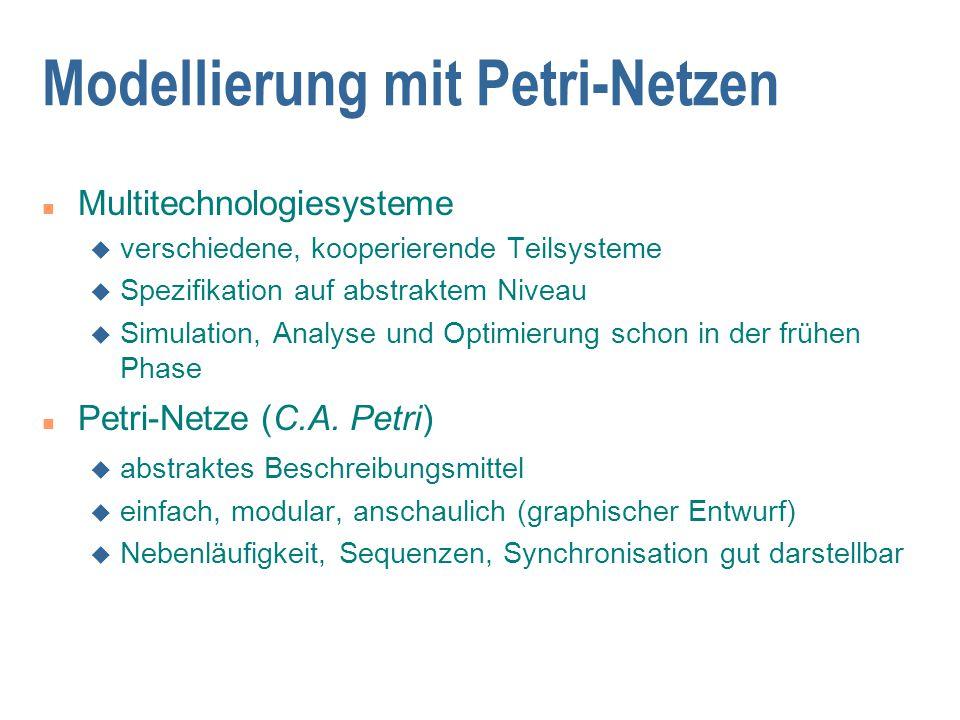 Modellierung mit Petri-Netzen