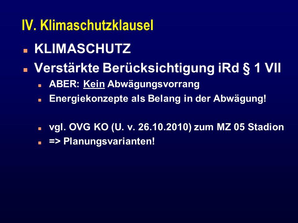 IV. Klimaschutzklausel