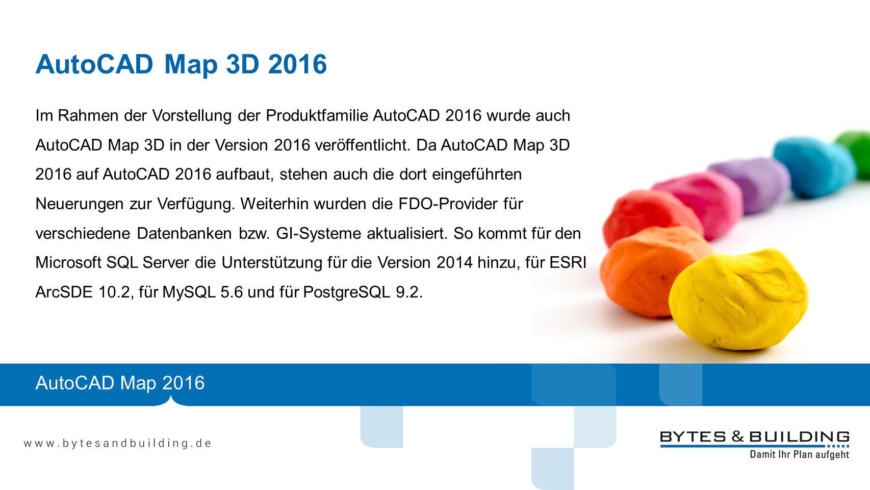 AutoCAD Map 3D 2016 AutoCAD Map 2016