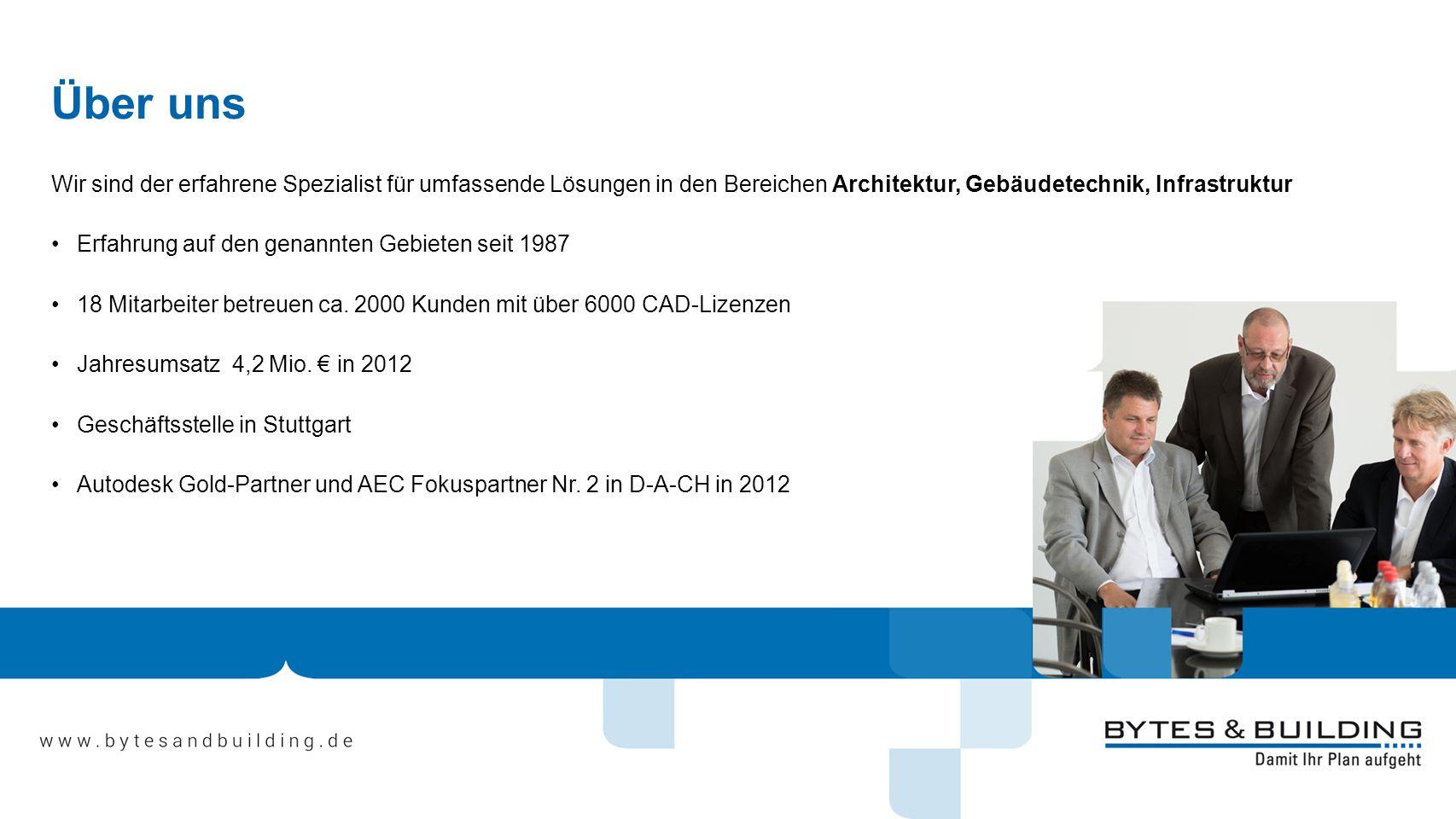 Über uns Wir sind der erfahrene Spezialist für umfassende Lösungen in den Bereichen Architektur, Gebäudetechnik, Infrastruktur.