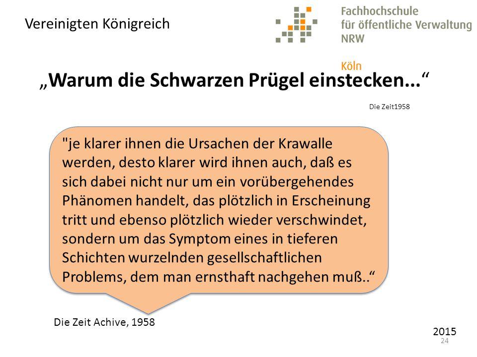 """""""Warum die Schwarzen Prügel einstecken... Die Zeit1958"""