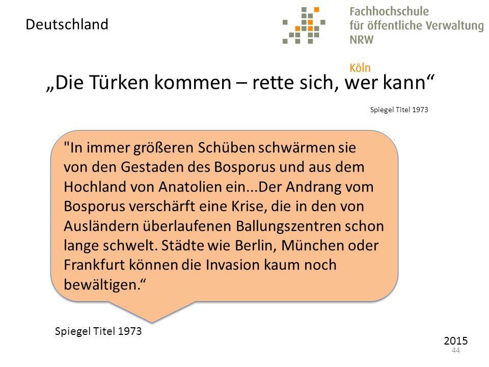"""""""Die Türken kommen – rette sich, wer kann Spiegel Titel 1973"""
