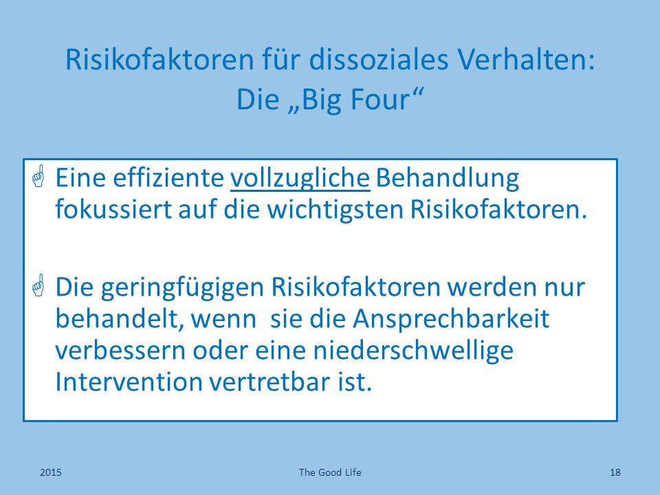 """Risikofaktoren für dissoziales Verhalten: Die """"Big Four"""