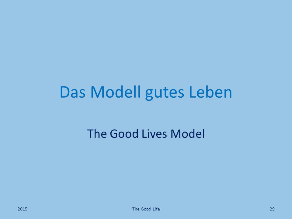 Das Modell gutes Leben The Good Lives Model 2015 The Good Life