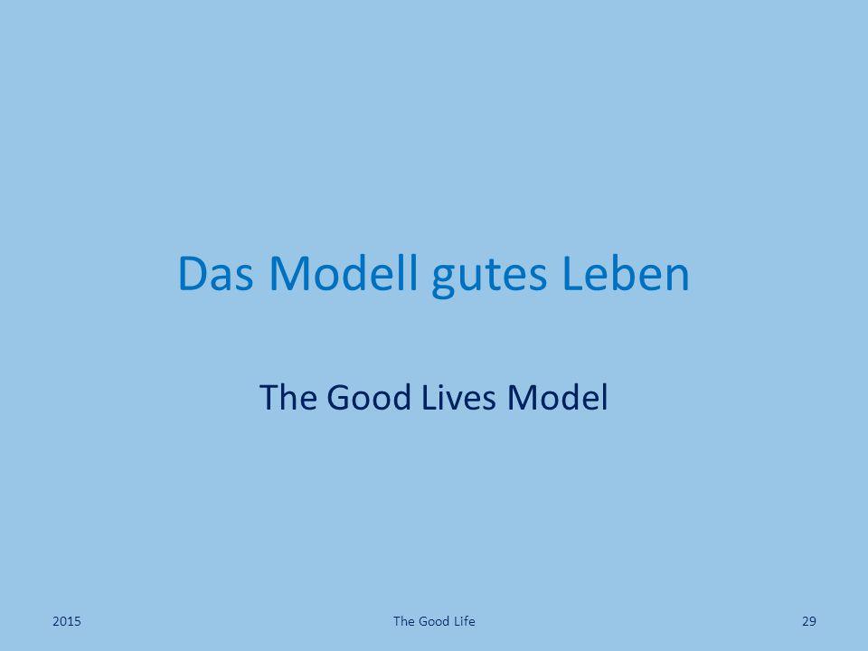 Das Modell gutes Leben The Good Lives Model 2015 The Good Life