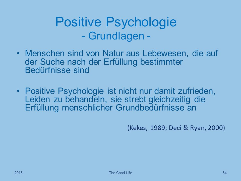 Positive Psychologie - Grundlagen -