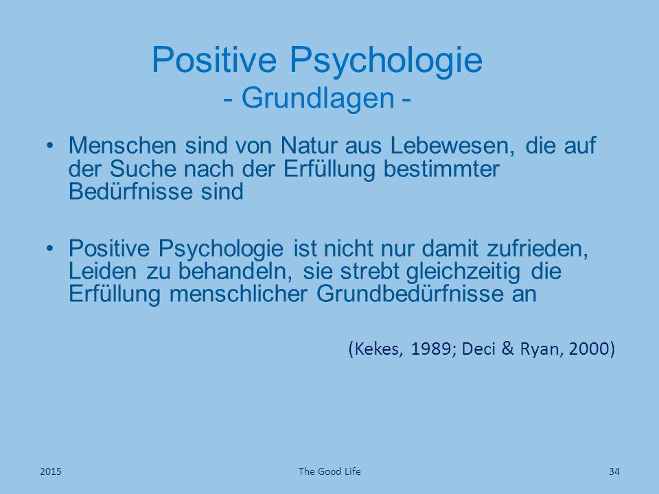 Positive Psychologie - Grundlagen -