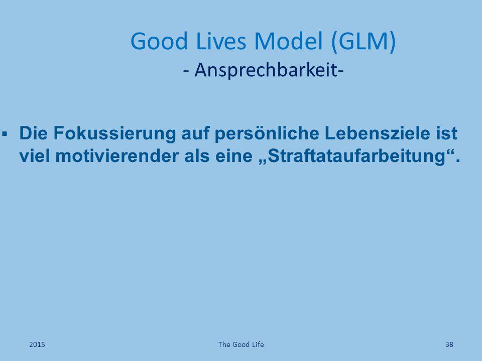 Good Lives Model (GLM) - Ansprechbarkeit-