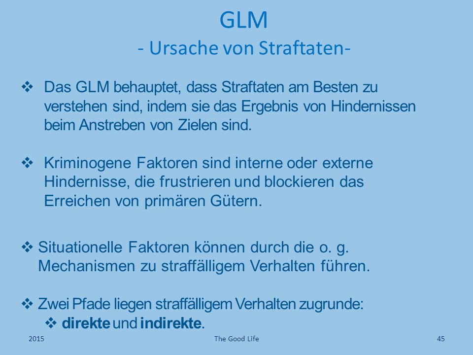 GLM - Ursache von Straftaten-