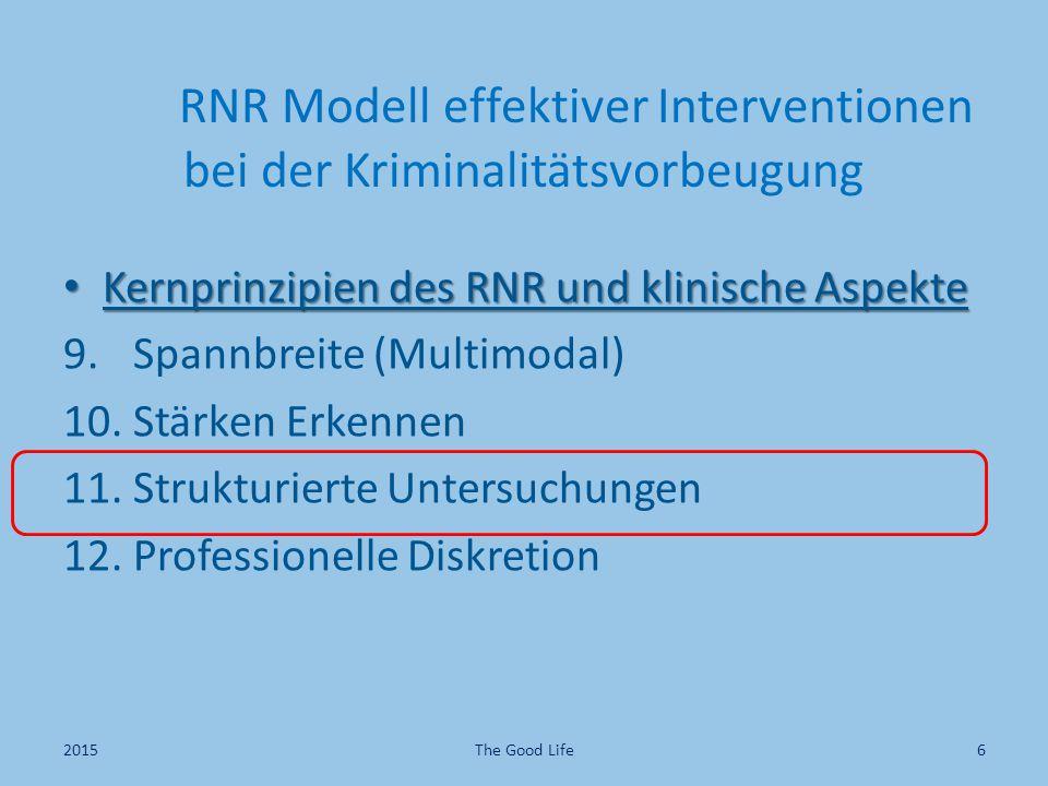 RNR Modell effektiver Interventionen bei der Kriminalitätsvorbeugung