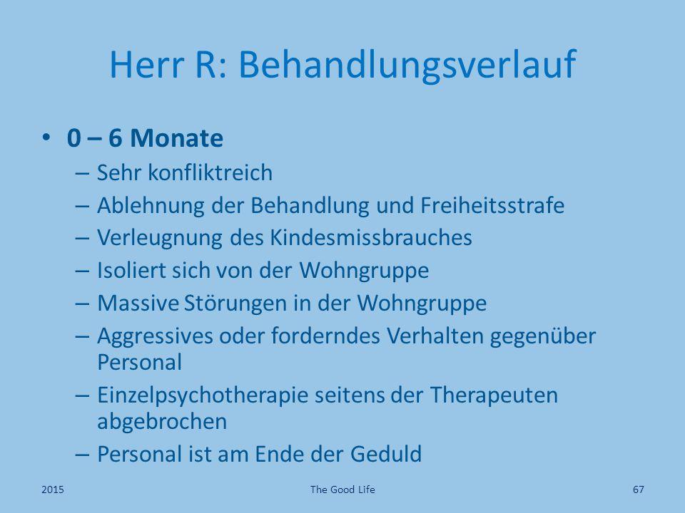 Herr R: Behandlungsverlauf