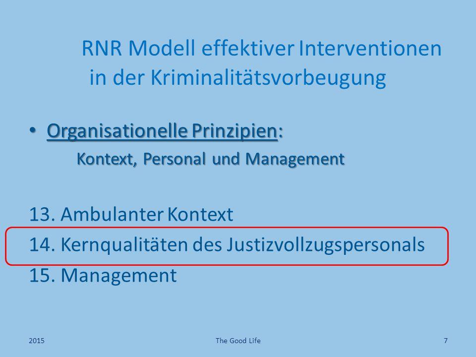 RNR Modell effektiver Interventionen in der Kriminalitätsvorbeugung