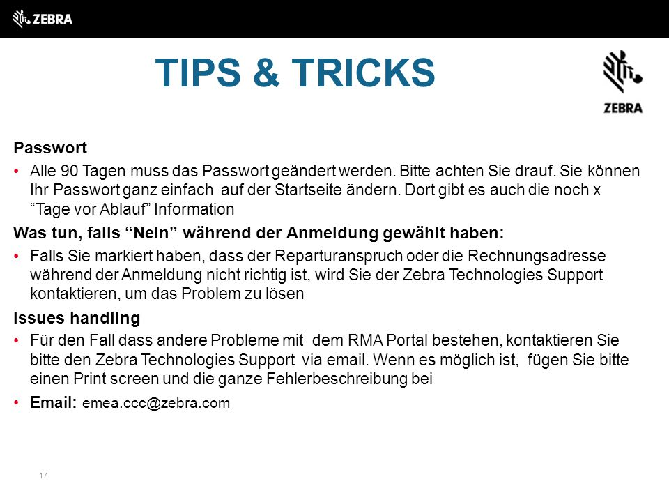 TIPS & TRICKS Passwort.