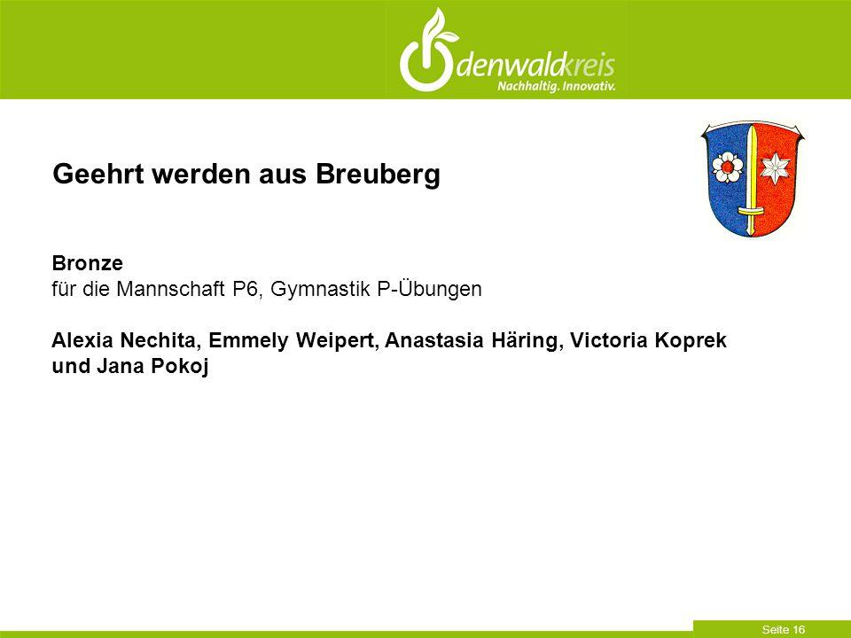 Geehrt werden aus Breuberg