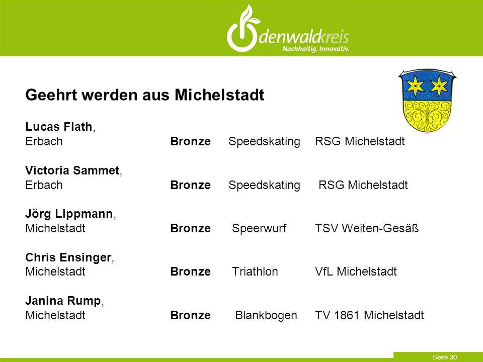 Geehrt werden aus Michelstadt