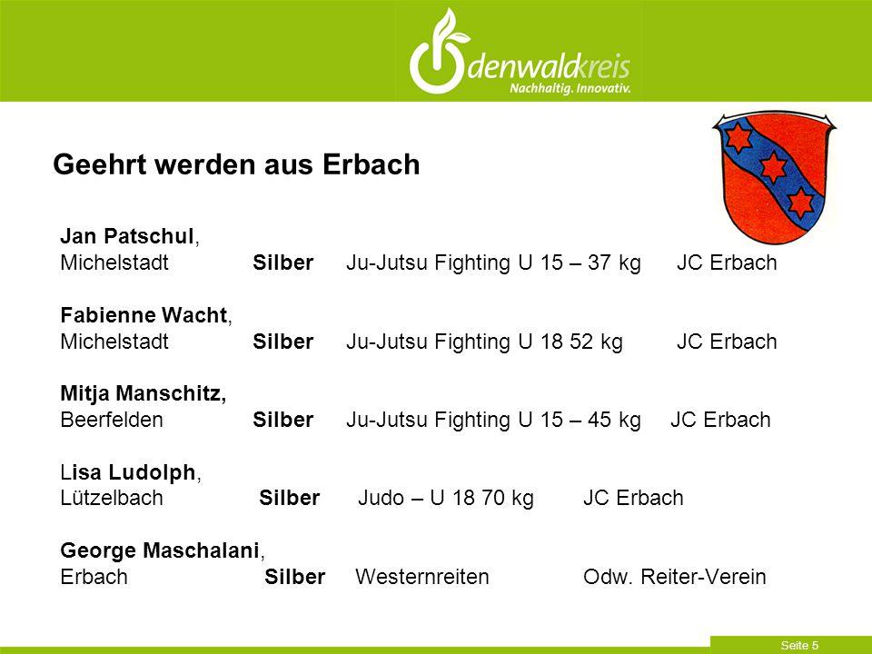 Geehrt werden aus Erbach
