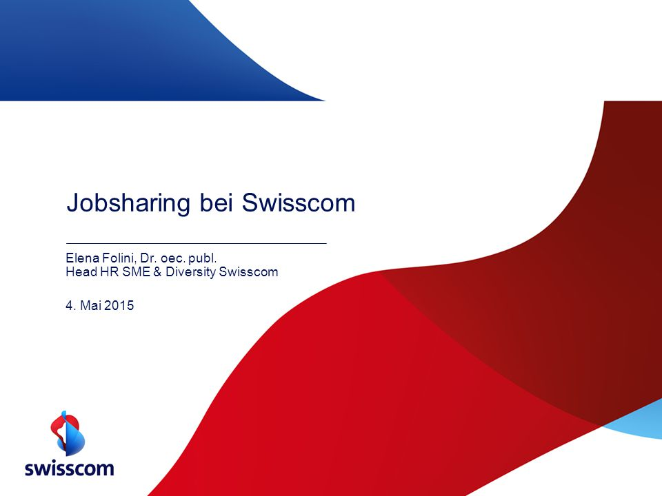 Jobsharing bei Swisscom