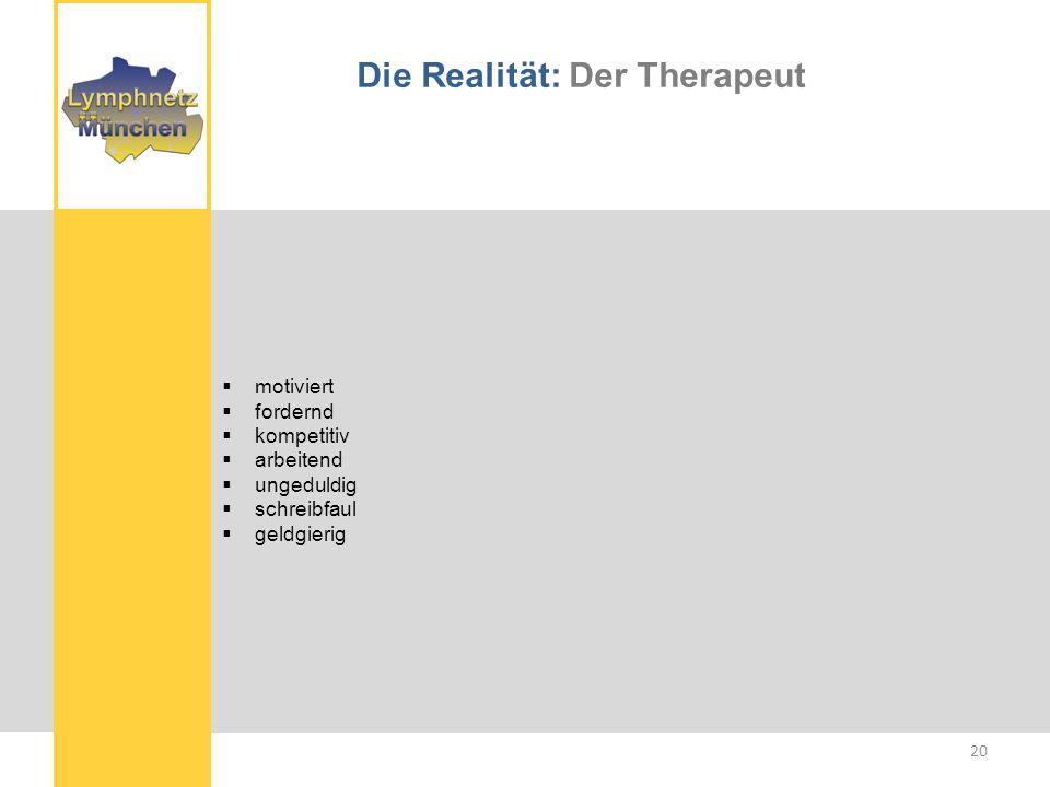 Die Realität: Der Therapeut