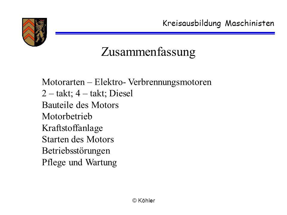 Zusammenfassung Motorarten – Elektro- Verbrennungsmotoren