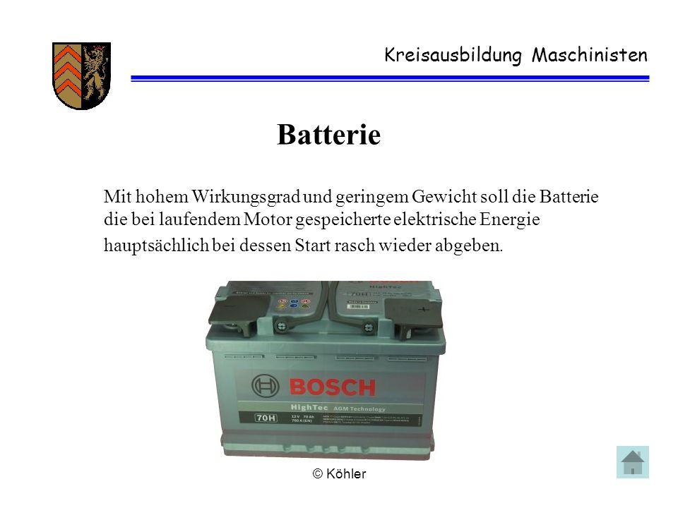 Batterie Kreisausbildung Maschinisten