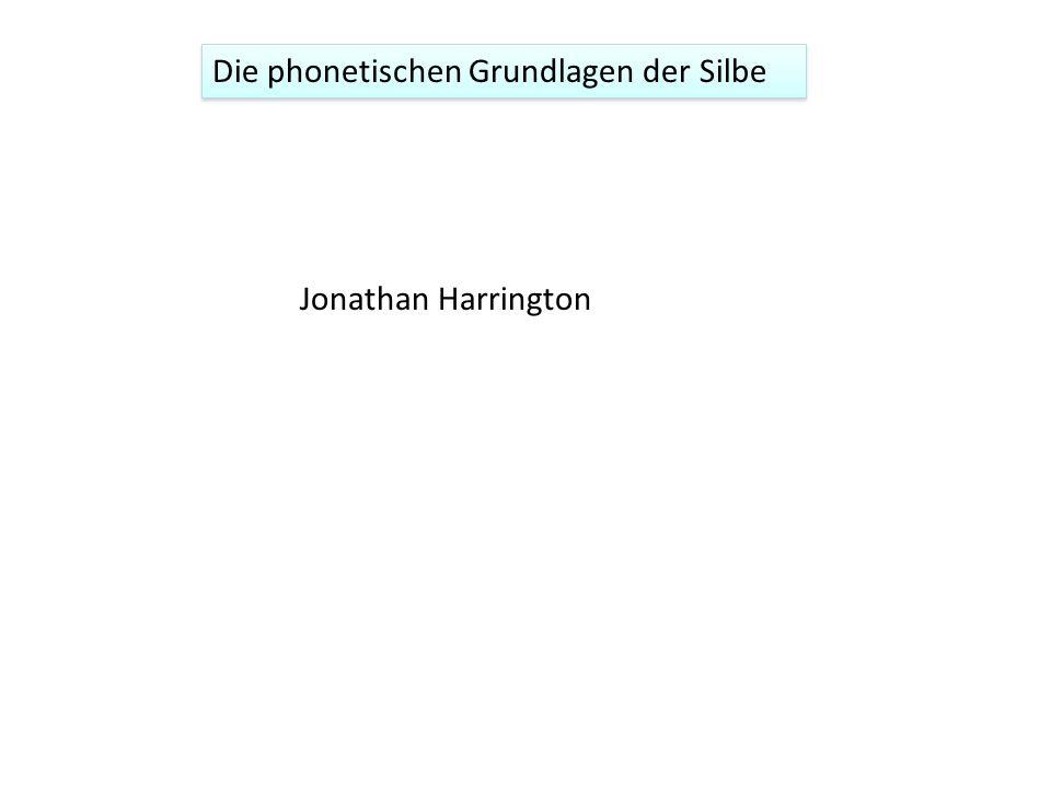 Die phonetischen Grundlagen der Silbe