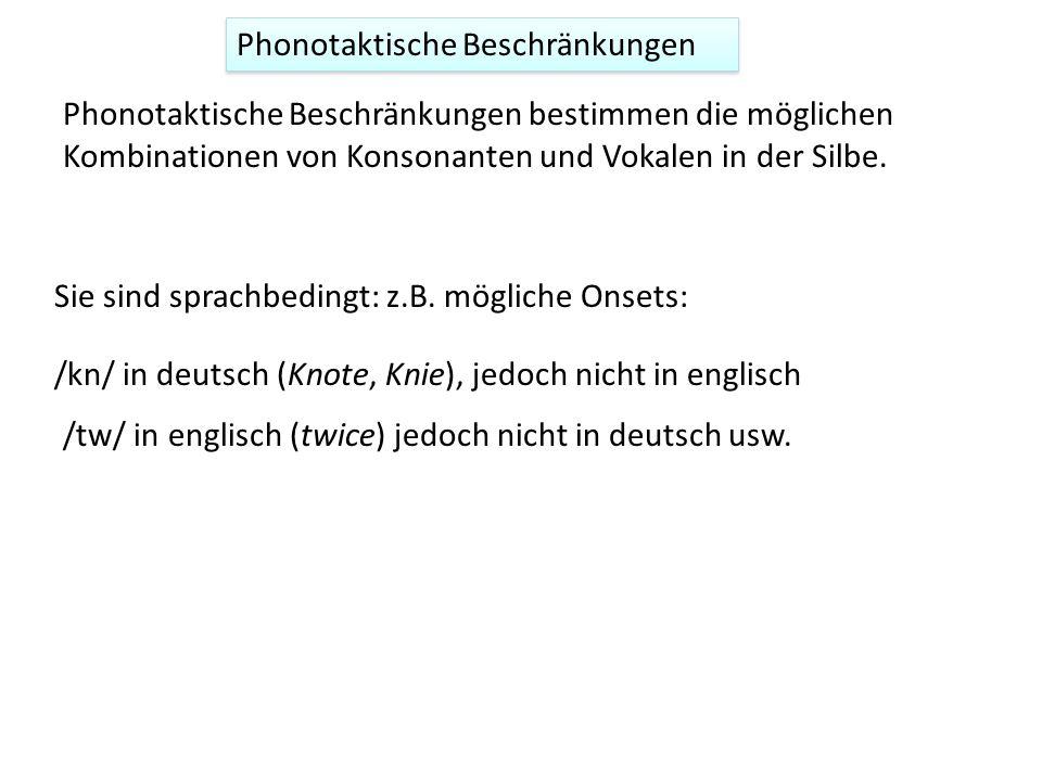 Phonotaktische Beschränkungen