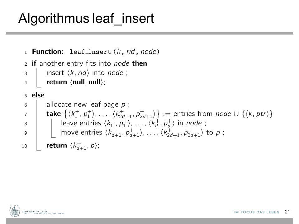 Algorithmus leaf_insert
