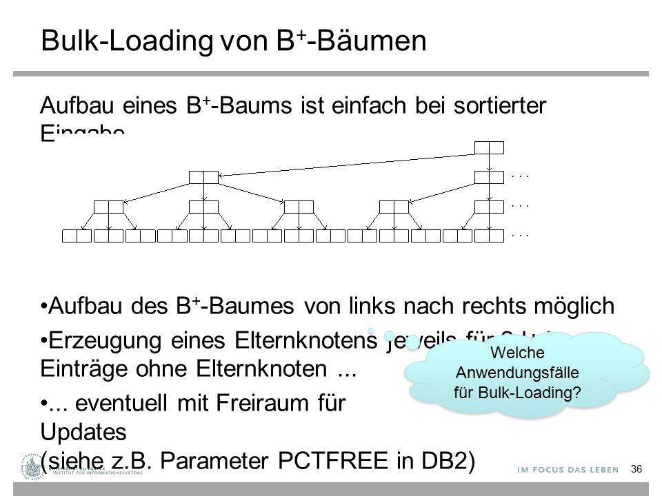Bulk-Loading von B+-Bäumen