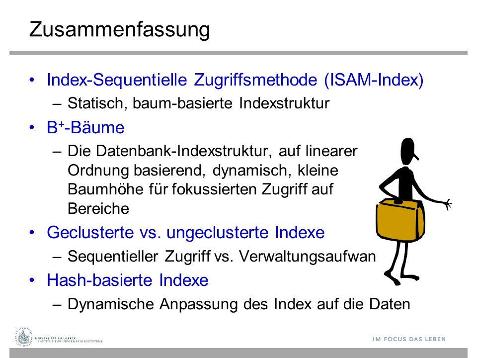 Zusammenfassung Index-Sequentielle Zugriffsmethode (ISAM-Index)