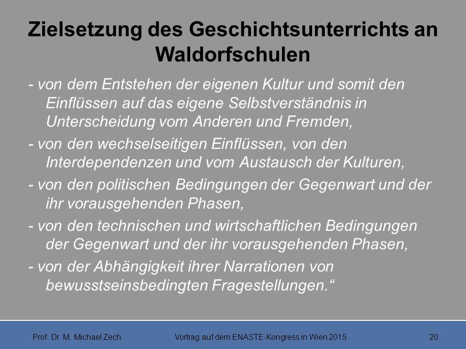 Zielsetzung des Geschichtsunterrichts an Waldorfschulen