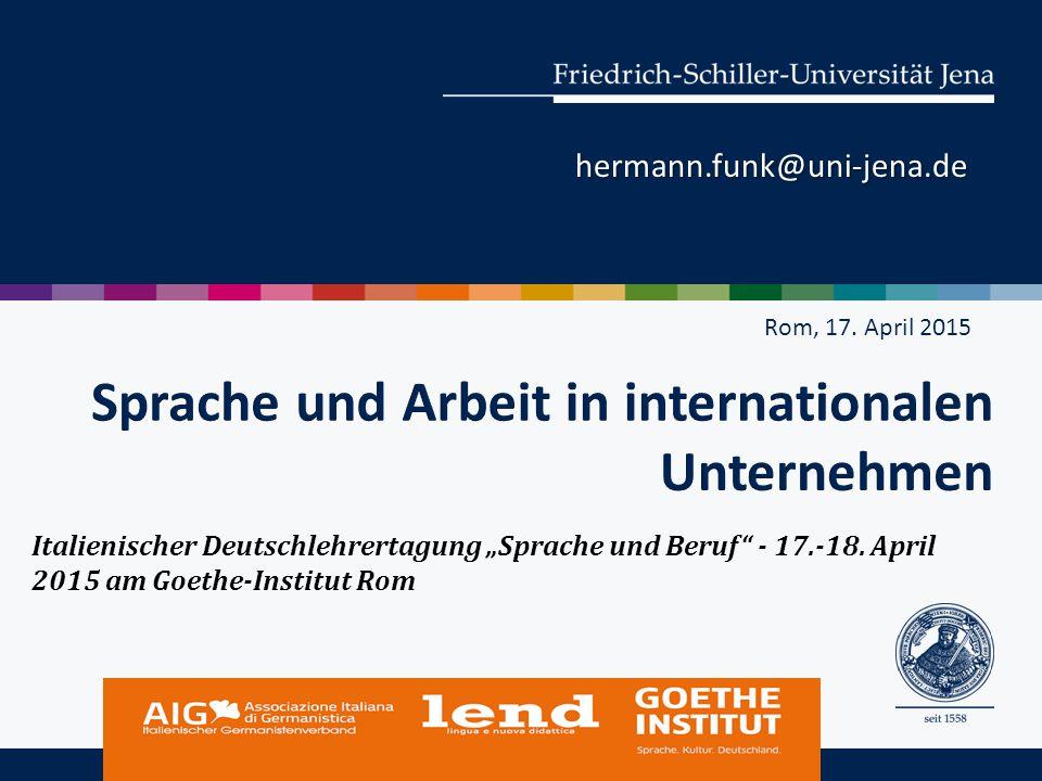 Sprache und Arbeit in internationalen Unternehmen