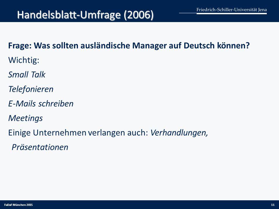 Handelsblatt-Umfrage (2006)