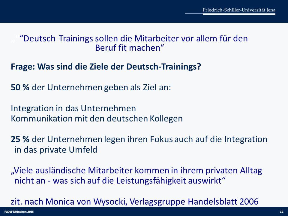 """"""" Deutsch-Trainings sollen die Mitarbeiter vor allem für den Beruf fit machen"""