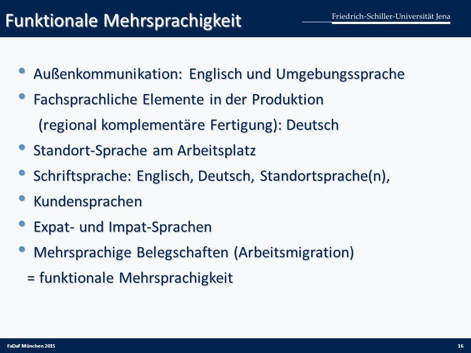 Funktionale Mehrsprachigkeit