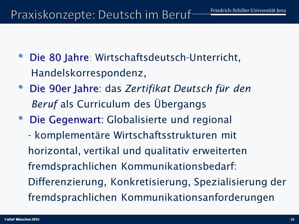 Praxiskonzepte: Deutsch im Beruf