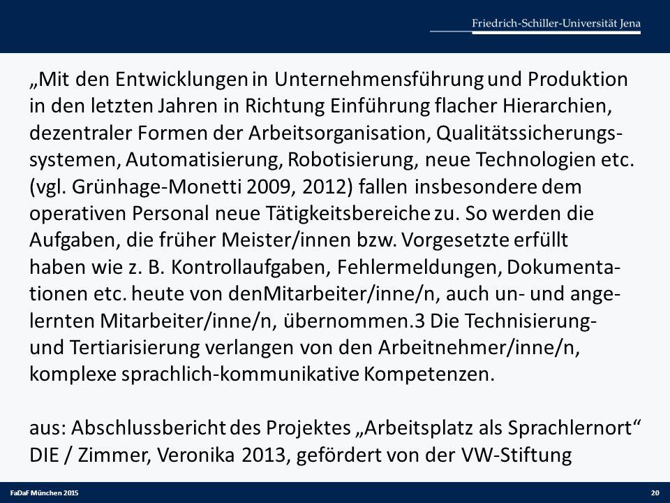 """aus: Abschlussbericht des Projektes """"Arbeitsplatz als Sprachlernort"""