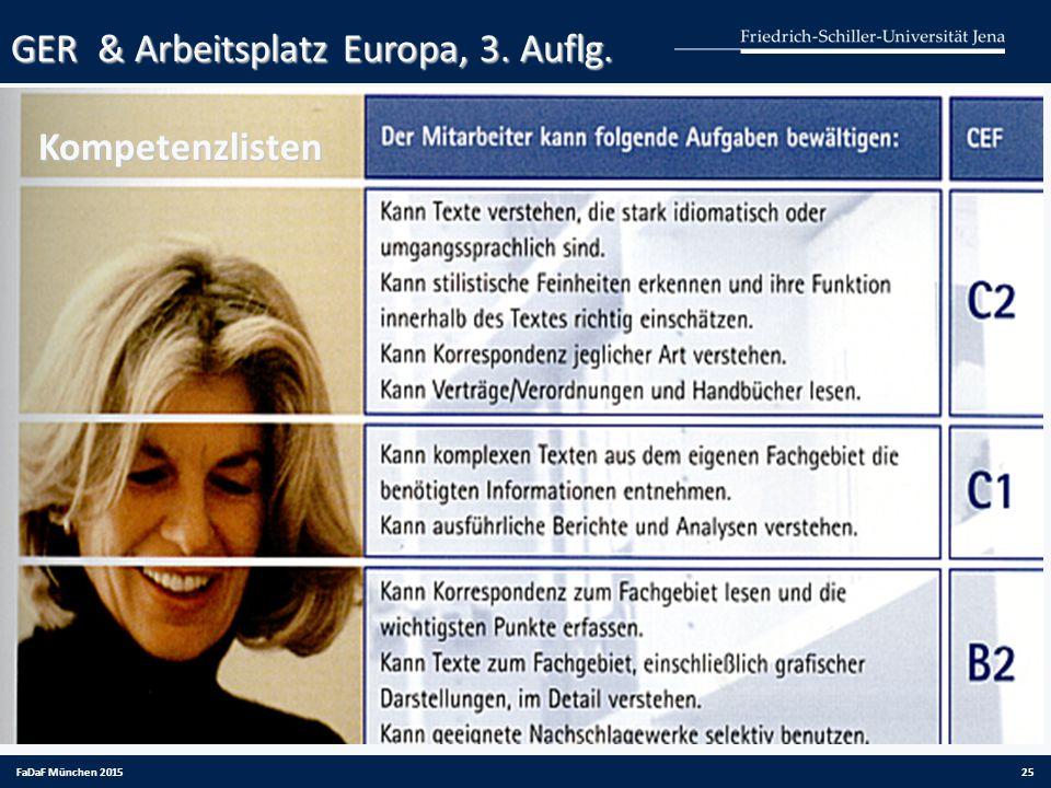 GER & Arbeitsplatz Europa, 3. Auflg. Kompetenzlisten