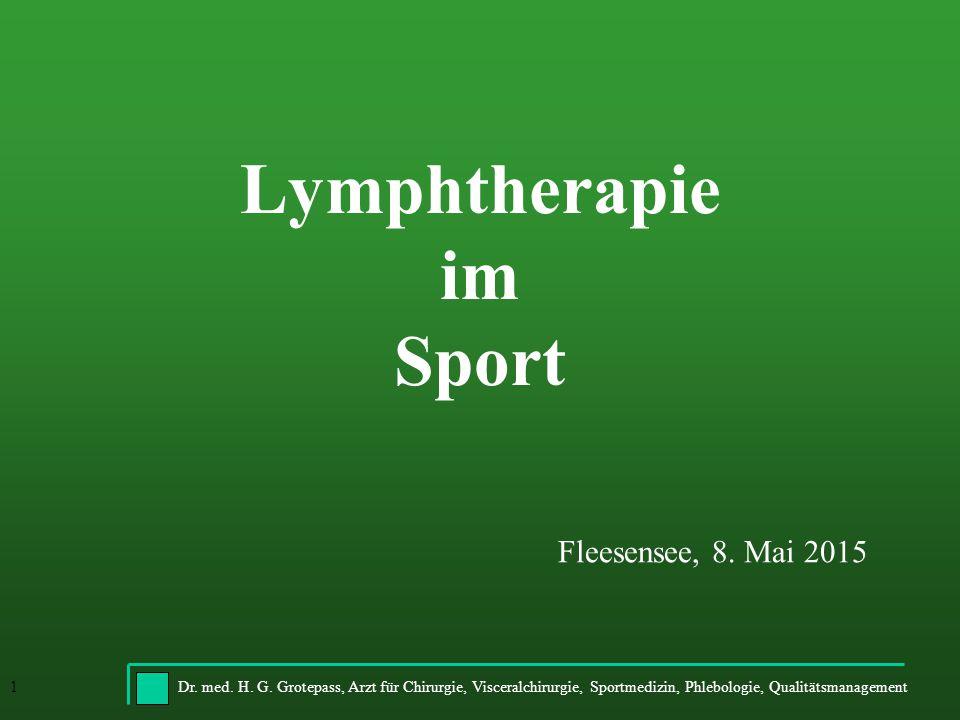 Lymphtherapie im Sport