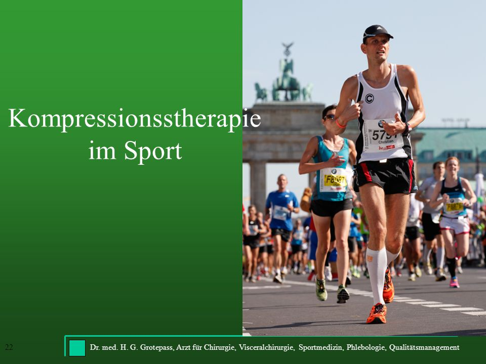 Kompressionsstherapie im Sport