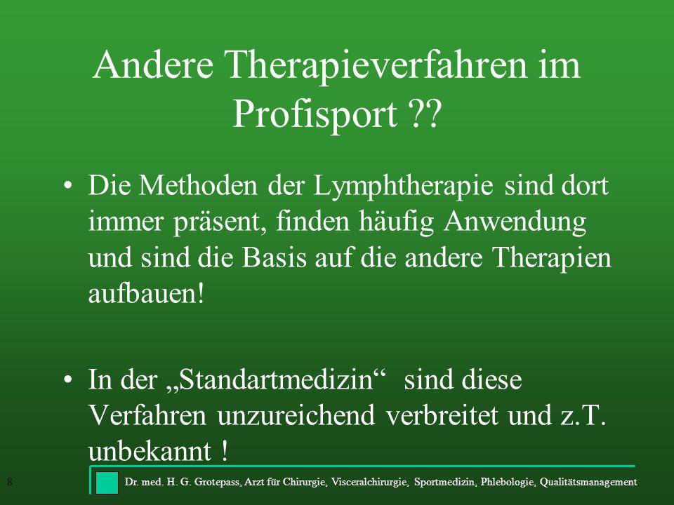 Andere Therapieverfahren im Profisport